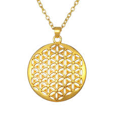 flower of life sacred geometry necklace pendant kwn