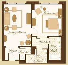 bellagio suite floor plan
