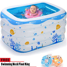 intime inflatable baby mommy swimming pool 143cm 105cm 75cm