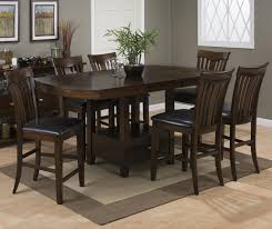 counter height rectangular table. Storage Dining Table Set With Regard To Jofran Mirandela Birch JOFR GRP 836 PUBTBL 6 Counter Height Decor 3 Rectangular