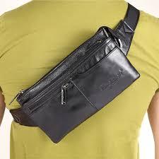 Mens Designer Belt Bag Us 17 61 32 Off Mens Genuine Leather Cowhide Designer Belt Hip Bum Waist Fanny Pack Coin Purse Travel Male Shoulder Messenger Money Bag Pouch In