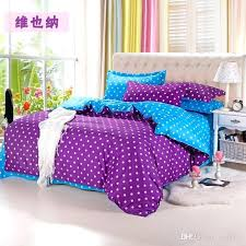 polka dot bed sets home blue bedding include comforter cover sheet luxury from set