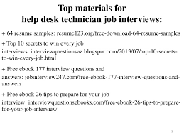 Help Desk Technician Resume Help Desk Technician Resume Sample Pdf Ebook