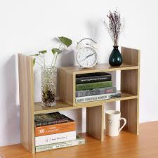 wooden desktop organizer tidy box desk shelf storage holder rack home office diy