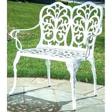 white iron garden furniture exellent white white garden bench metal alfresco home outdoor in to