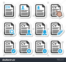 Resume Icons Cv Curriculum Vitae Resume Vector Icons Stock Vector 100 43