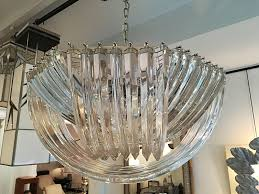 murano curved crystal chandelier by carlo nason