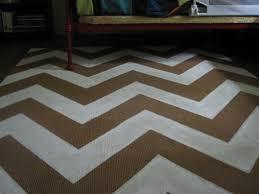 weekend painting chevron rug