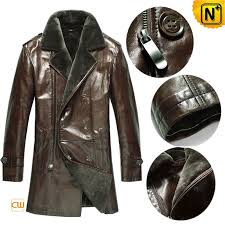 double ted leather fur coat cw868816 cwmalls com