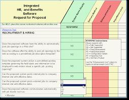 System Comparison - Software Evaluation - Rfp Templates