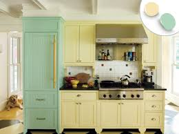 Yellow And Blue Kitchen Furniture Beautiful Kitchen Cabinet Colors That Catch Your Eye