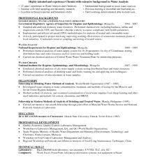 Entry Level Chemist Resume Therpgmovie