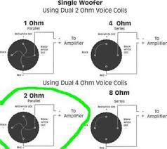 single dual 2 ohm wiring diagram wiring diagram subwoofer speaker wiring diagrams kicker
