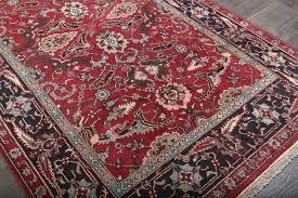 persian style rugs mashad red hand knotted wool rug image 12