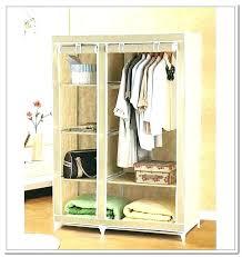 whitmor portable wardrobe clothes storage organizer closet with hanging rack