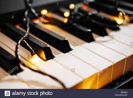 Piano Key Lights Piano Keys With Christmas Lights Stock Photo 232216405 Alamy