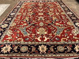 10x14 hand knotted rug wool new rust persian oriental rugs oushak ushak woven