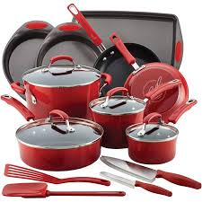 rachael ray pan set. Wonderful Ray Rachael Ray 17Piece Cookware Set And Pan C