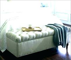 Narrow Bedroom Bench Black Leather Bed Seat Ends Storage And White ...
