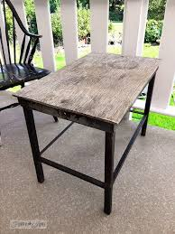 funky patio furniture. Going Farmhouse With A Funky Patio Table And Kitchen Window Valance, Crafts, Design Furniture E