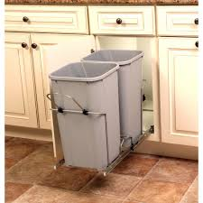 Kitchen cabinet trash can Pull In Cabinet Pull Out Soft The Home Depot Pull Out Trash Cans Pull Out Cabinet Organizers The Home Depot
