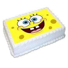 Spongebob Rectangle Edible Icing Image 25cm Party Savers Cake