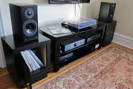 speaker stands record storage combo ikea ers