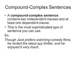 Types Of Sentences Simple Compound Complex Compound Complex 7 ...