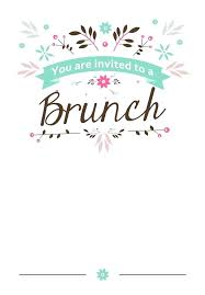 Brunch Invitations Templates Invitation Template Free Lovely