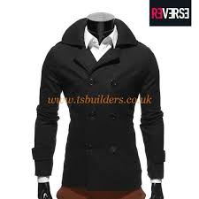 60 polyester 40 wool jackets fashion wool blend pea coat men clothing 9zz499
