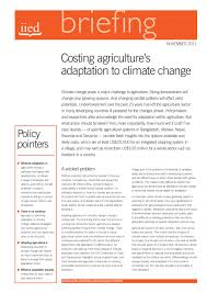 Costing Agricultures Adaptation To Climate Change Iied 11 2011 By