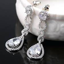 chandelier earrings vintage crystal bridal earrings long silver dangle wedding for amazing house chandelier earrings chandelier earrings