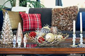 See more ideas about decor, tray decor, decorating coffee tables. Pretty In Plaid Christmas Living Room This Is Our Bliss