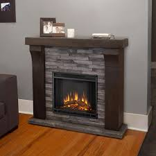real flame avondale 48 inch electric fireplace with mantel gray ledgestone gas log guys