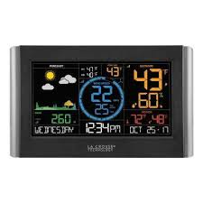 digital color wi fi professional weather station with wireless wind and rain sensors plus
