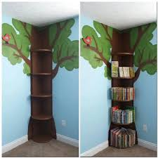 Tree Bookshelf... This is simple enough.. then could add fake leaves