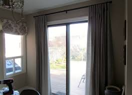 finest sliding door curtains over blinds