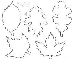 Oak Leaf Outline Template To Print Hetero Co