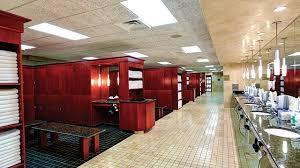 a locker room in the club