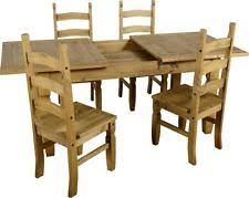 corona mexican pine 152 cm dining table with 6 chairs. corona mexican pine extending dining table and 4 chair 5ft set 152 cm with 6 chairs i