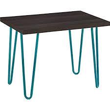 minimalistic furniture. Altra Owen Retro Stool, Espresso/Teal. By Furniture Minimalistic