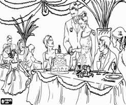 Kleurplaat Bruid En Bruidegom En De Bruidstaart Kleurplaten