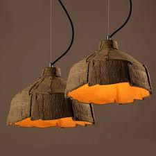 modern cement pendant lighting 12355