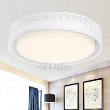 Modern Carved Fixture Acrylic White LED Ceiling Lights