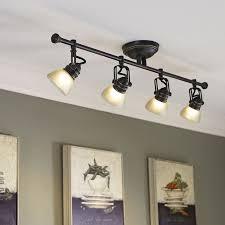 lowes pendant lights for track lighting. shop allen + roth tucana 4-light oil-rubbed bronze dimmable fixed track light lowes pendant lights for lighting m