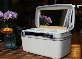makeup train case wedding how to clean vine luge old samsonite suitcases etc milky train case
