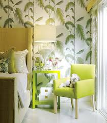 modern bedroom green. Nature Wallpaper Green Leaves Modern Bedroom Decor