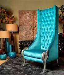 eclectic high back chairs majestic turquoise armchair by collection alexandra