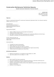 Maintenance Technician Resume Examples. Electrician Apprentice ...