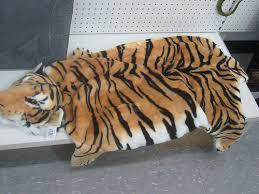 faux tiger skin rug fake tiger rug